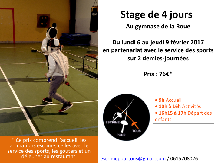 Stage Escrime Fontenay aux roses