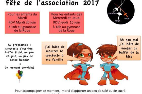 Fête de l'association 2017