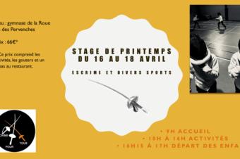 Stage de Printemps 2018