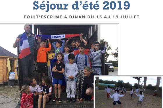 Sejour  Equit'escrime 2019