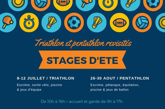 Stage d'été enfant : triathlon et pentathlon