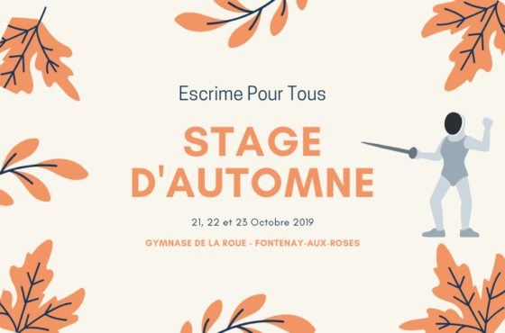Stage Sportif Automne 2019