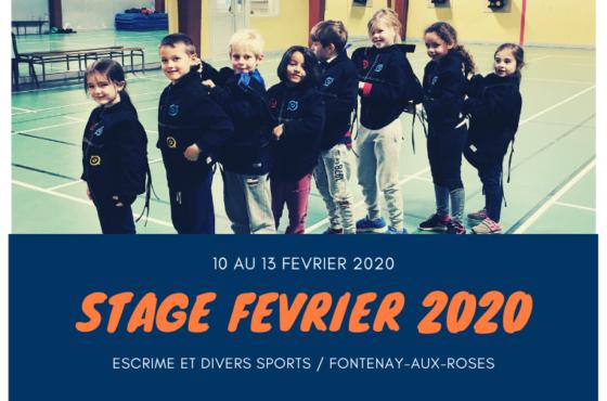 Stage de février 2020 du 10 au 13 février