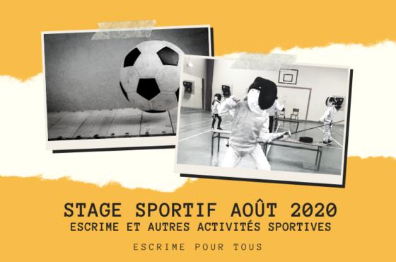 Stage escrime/multi-sports du 24 au 28 août 2020 à Fontenay-Aux-Roses 92
