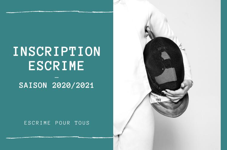 Inscription Escrime  – Saison 2020/2021