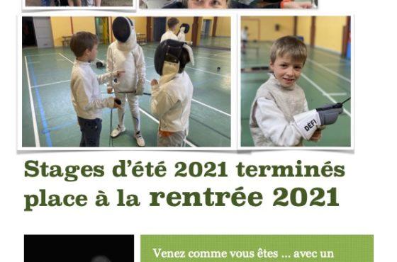 Escrime / Rentrée 2021 / I'm back  :-)